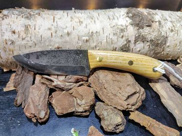 Picture of GECKO Custom Knife, Small with Ash Wood Handle