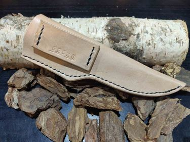 Picture of GECKO Hand Stitched, Genuine Cowhide Leather Sheath