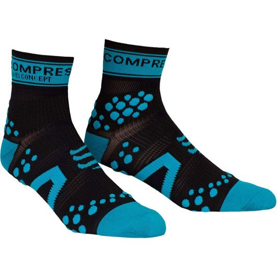Picture of COMPRESSPORT - RACING SOCK RUN BLACK/BLUE
