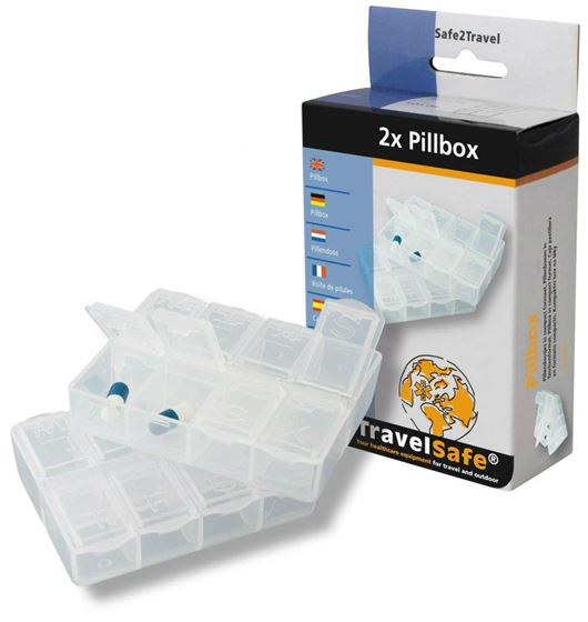 Picture of TRAVELSAFE - PILLBOX X2 WITH DAY LABEL