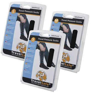 Picture of TRAVELSAFE - PRESSURE SOCKS BLACK SMALL