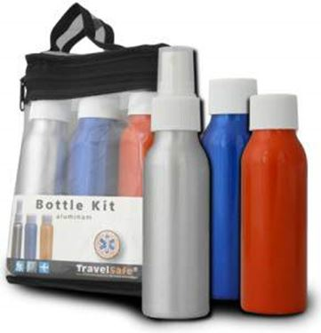 Picture of TRAVELSAFE - ALUMINIUM BOTTLES 3PC SET