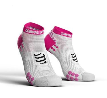 Picture of COMPRESSPORT - PRO RACING RUN SOCK LOW CUT V3.0 WHITE PINK