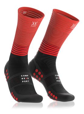 Picture of COMPRESSPORT - MID COMPRESSION RUN SOCKS RED