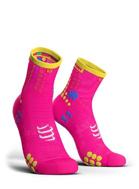 Picture of COMPRESSPORT - PRO RACING RUN SOCK HIGH CUT V3.0 PINK