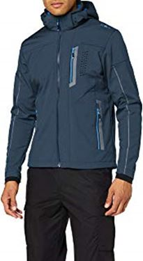 Picture of CMP MEN SOFT SHELL JACKET WITH ZIPPED HOOD