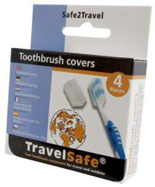 Picture of TRAVELSAFE - TOOTHBRUSH COVERS X4
