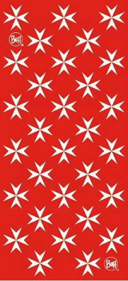 Picture of BUFF - TUBULAR MALTA CROSS RED