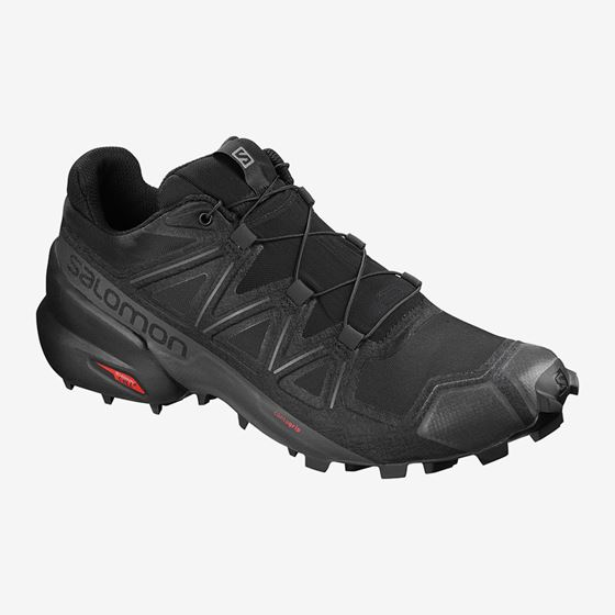 Picture of SALOMON SPEEDCROSS 5 WIDE BLACK/BLACK/PHAN